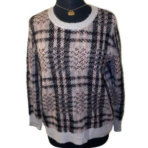 🆕Westbound Plaid Blk, Pink & Gray Sweater size PM